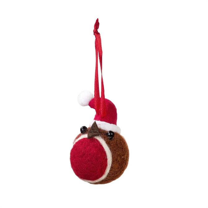 Botanical Christmas Felt Robin Decoration