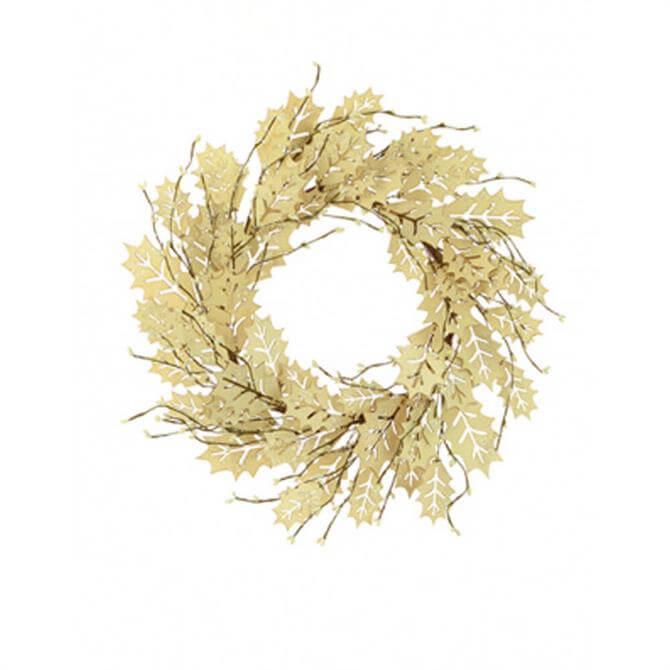 Floralsilk Laser-Cut Holly Leaf Wreath