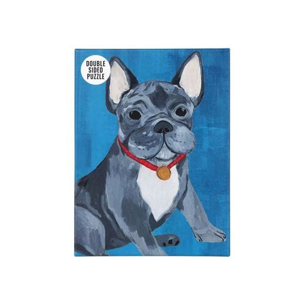 An image of Double Sided French Bulldog Puzzle 100 Pieces