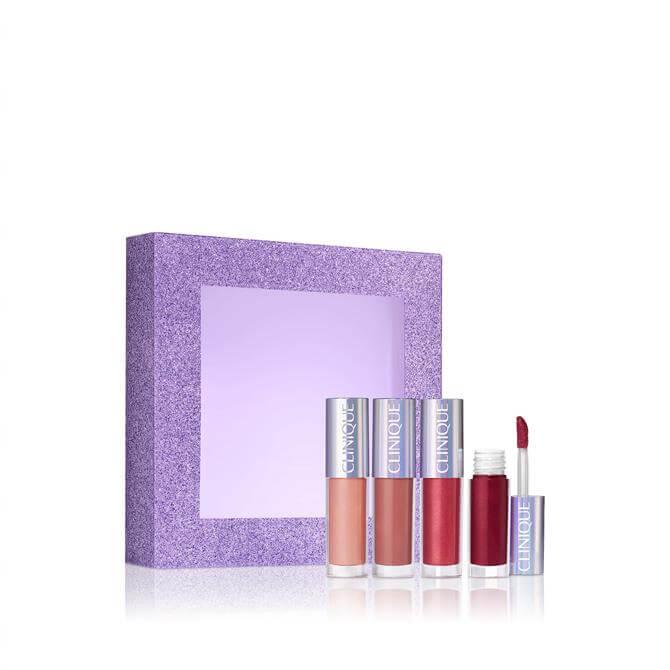 Clinique x4 High Shine Kisses Shimmering Lip Gloss Gift Set
