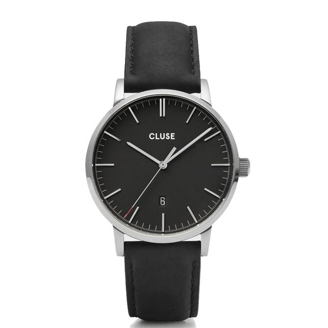 Cluse Aravis Silver/Black Mens Watch