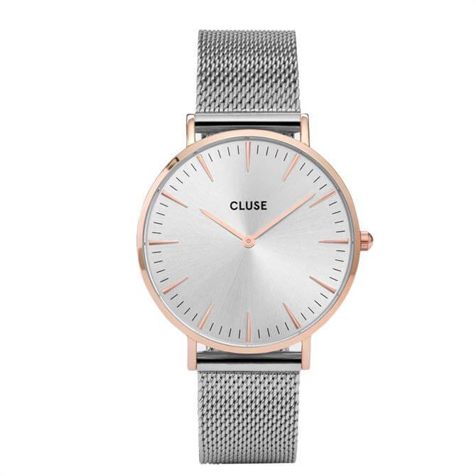 Cluse La Bohème Mesh Rose Gold Silver/Silver Watch