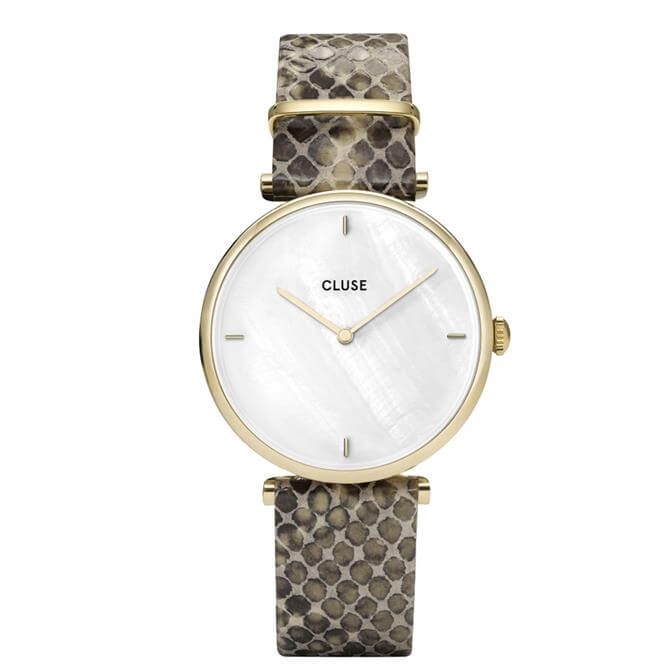 Cluse Triomphe Gold White Pearl/Soft Almond Strap Watch