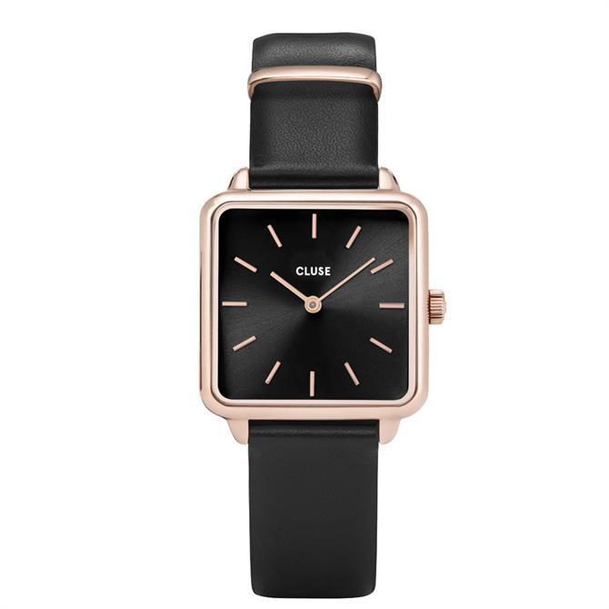 Cluse La Tétragone Rose Gold & Black Watch
