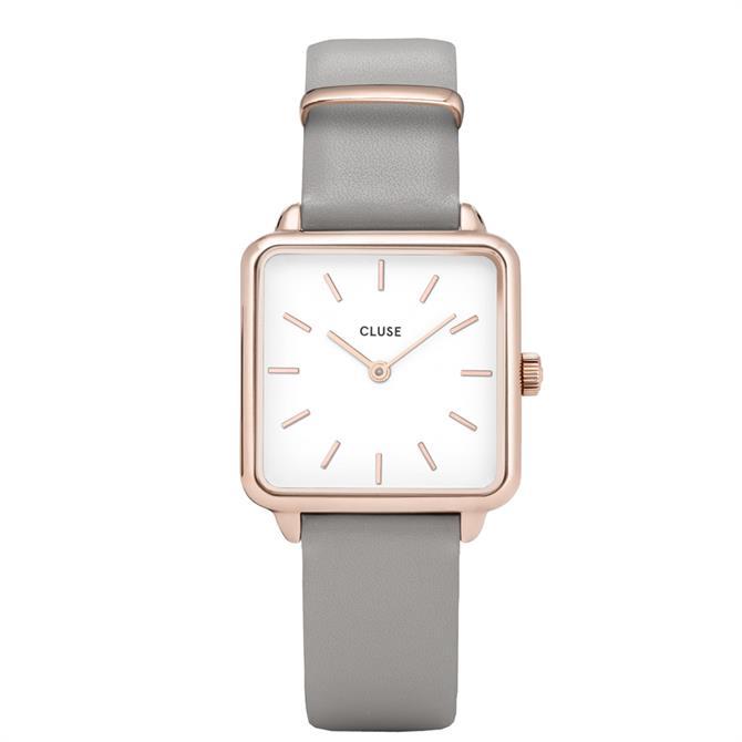 Cluse La Tétragone Rose Gold White/Grey Watch