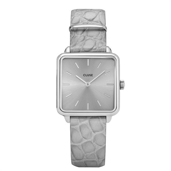 Cluse La Tétragone Silver/Soft Alligator Watch