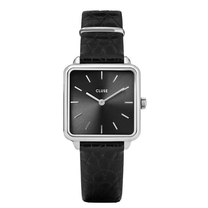 Cluse La Tétragone Silver & Black Watch