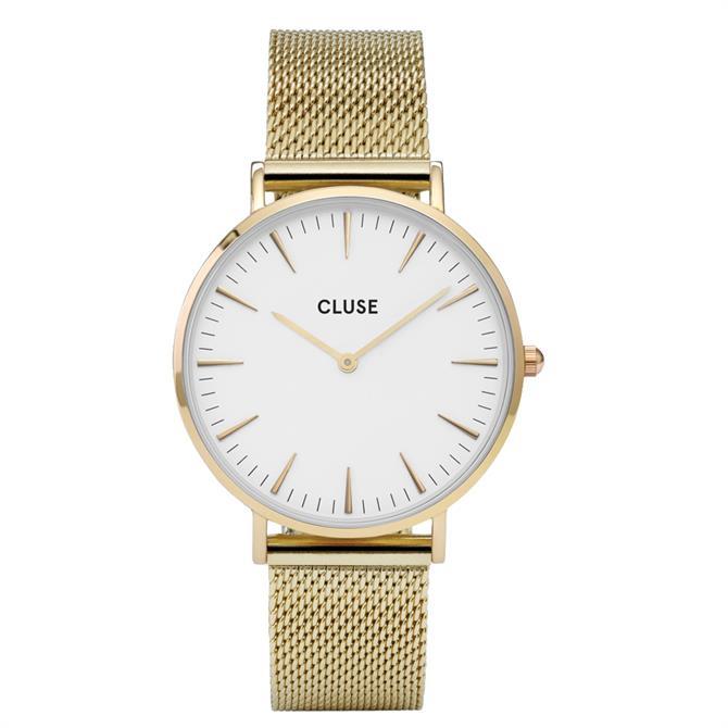 Cluse Boho Chic Gold Mesh Watch