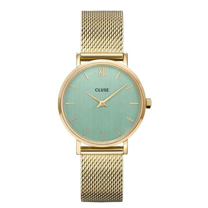 Cluse Minuit Gold Mesh Watch