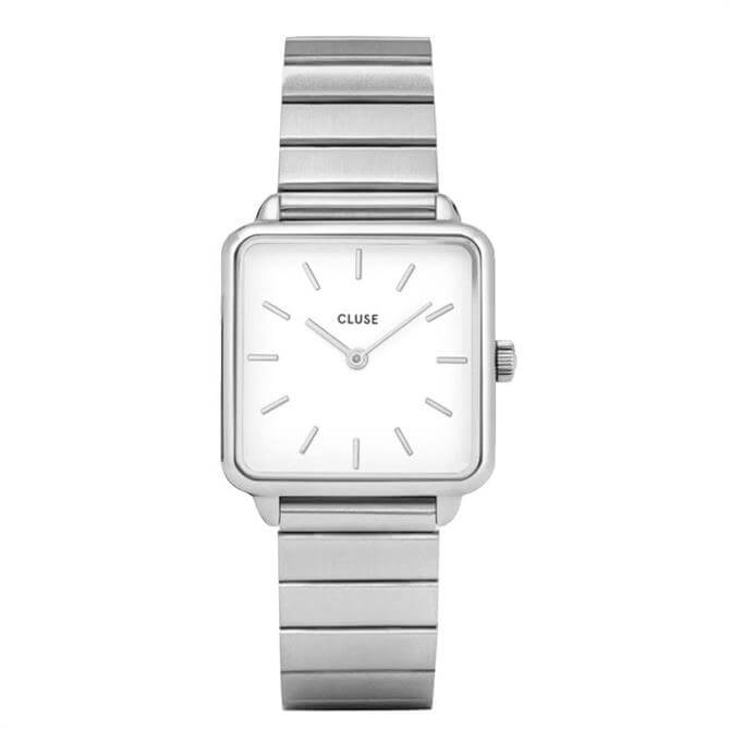 Cluse La Tétragone Silver Single Link Watch