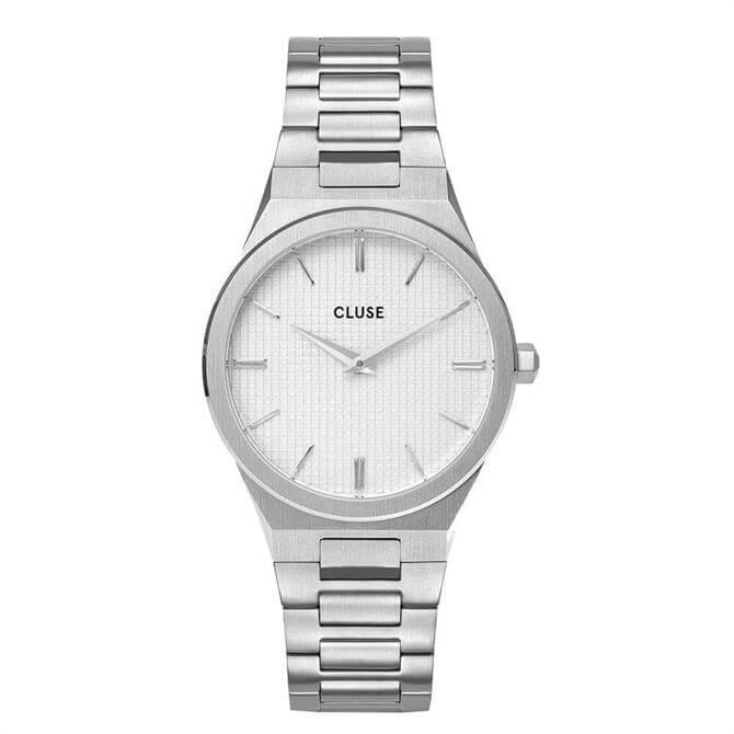 Cluse Vigoureux White & Silver Watch