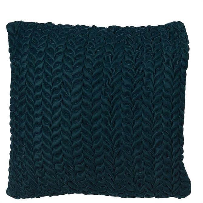 Coach House Dark Green Ruffle Cushion