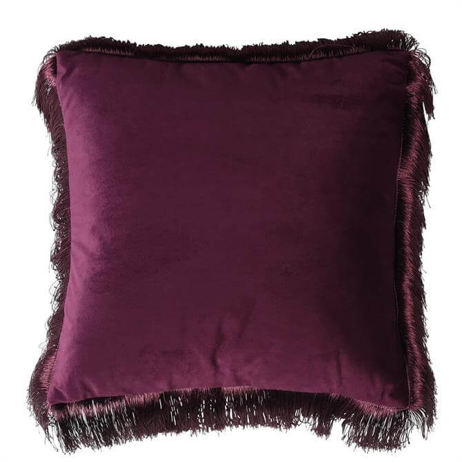 Coach House Purple Fringe Edge Cushion