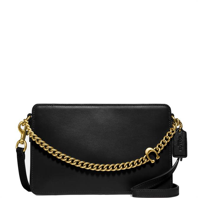 Coach Signature Chain Black Crossbody Bag