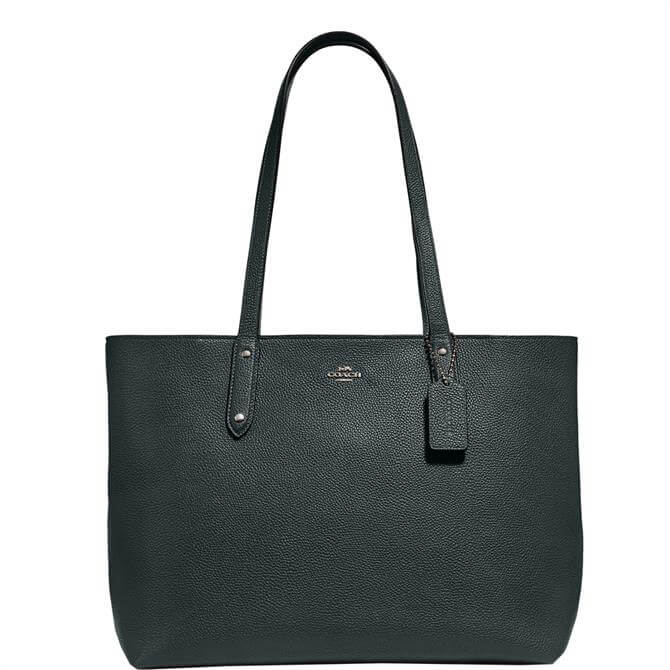 Coach Pine Green Central Zip Tote Bag