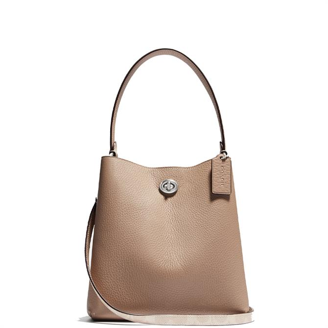 Coach Charlie Bucket Bag 21 in Blocked Signature Canvas