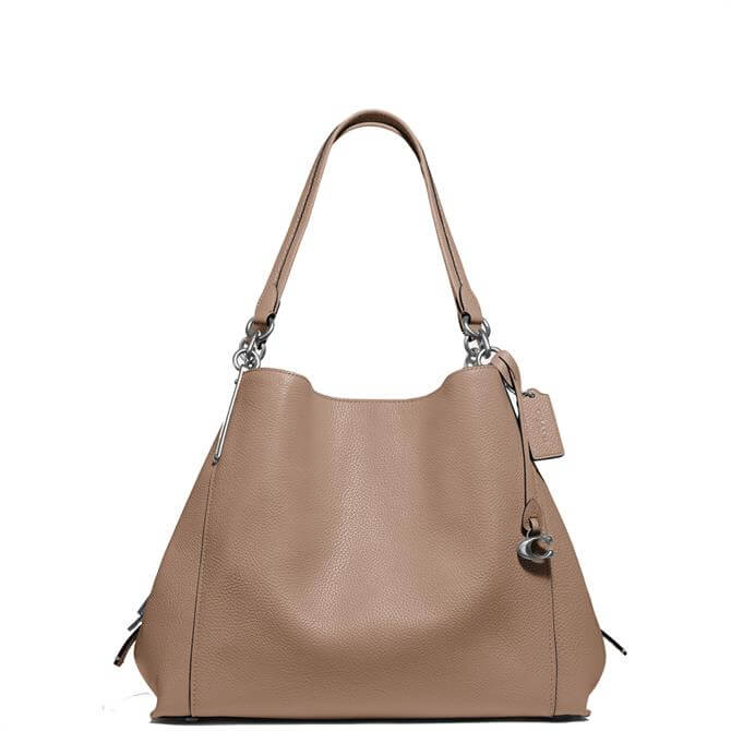 Coach Dalton 31 Taupe Shoulder Bag