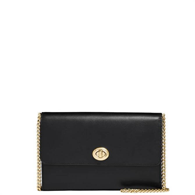 Coach Marlow Turnlock Black Chain Crossbody Bag