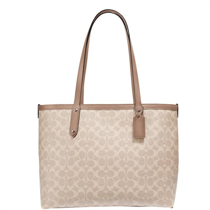 Coach Signature Canvas Taupe Central Tote Bag