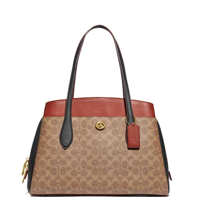 Coach Lora Colourblock Signature Canvas Carryall
