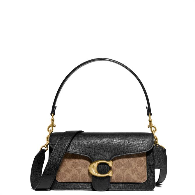 Coach Tabby Black Shoulder Bag 26 in Signature Canvas
