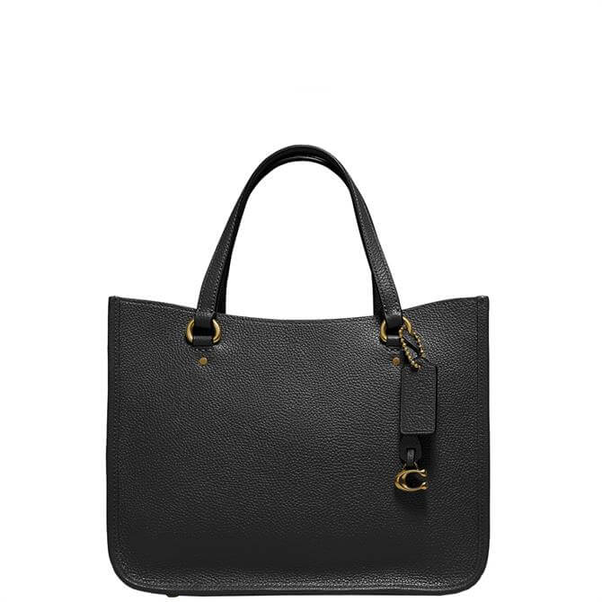 Coach Tyler Black Pebbled Leather Carryall Bag 28