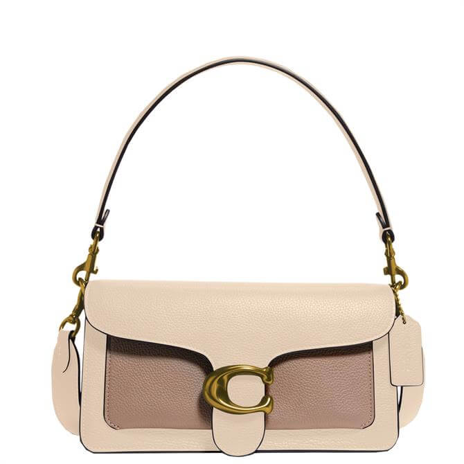 Coach Tabby Shoulder Bag 26 in Ivory Colourblock