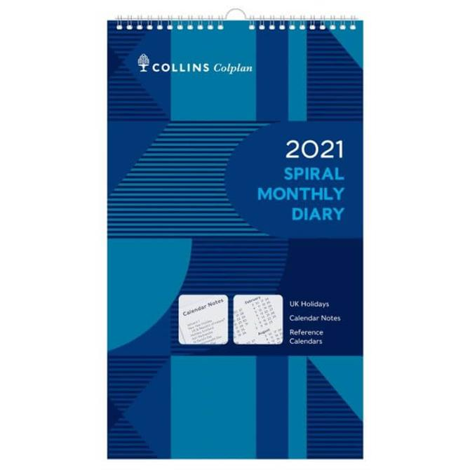 Collins Colplan - 2021 Spiral Calendar - Monthly