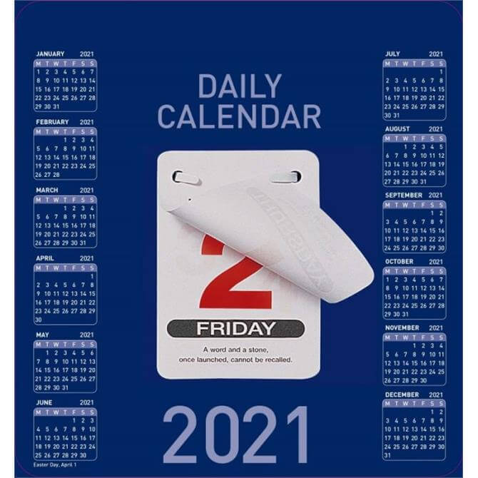 Collins Colplan - 2021 Daily Block Calendar - Day to Page