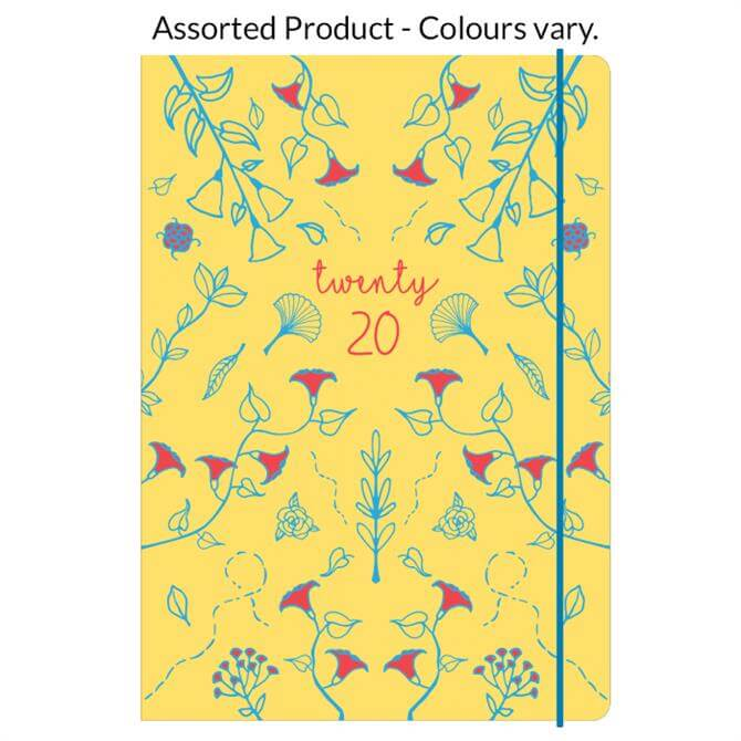 Collins Blossom A6 Day To Page Diary 2020 - Assorted