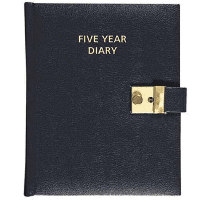 Collins 2021 - Five Year Diary - A5 Day to Page - Black