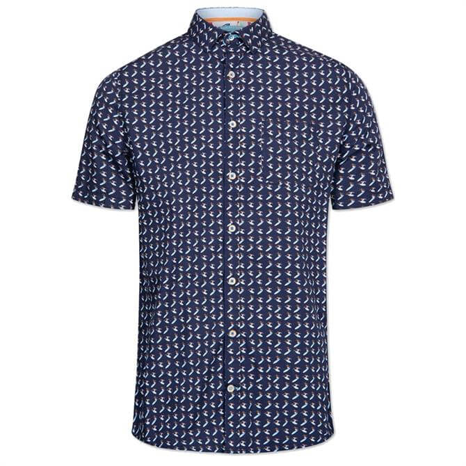 Colours & Sons Short Sleeve Surf Print Shirt