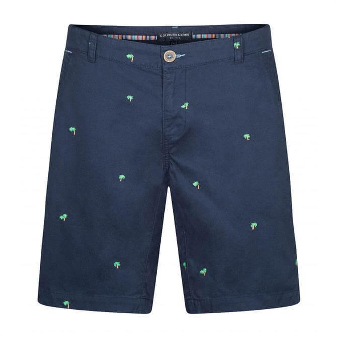 Colours & Sons Mats Palm Print Shorts