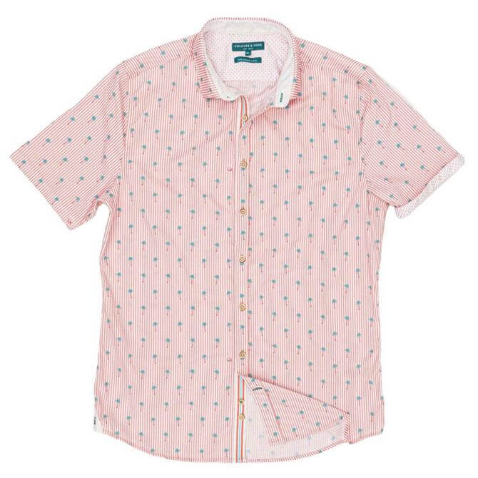 Colours & Sons Short Sleeve Printed Shirt