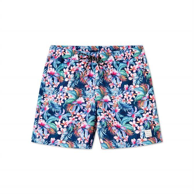 Colours & Sons Simon Summer Print Swimshorts