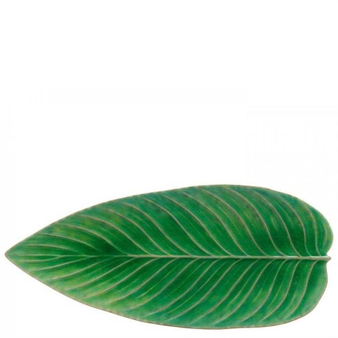 Costa Nova Riviera Strelizia Leaf Platter