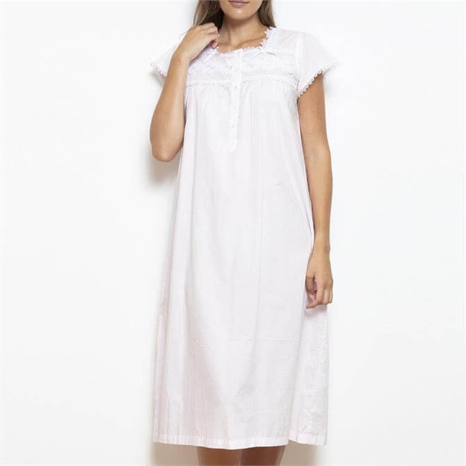 Hera Cotton Lawn Cap Sleeve Nightdress