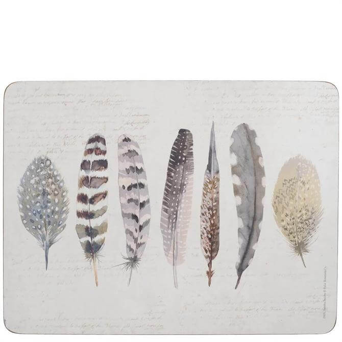 Creative Tops Pack of 6 Feathers Placemats