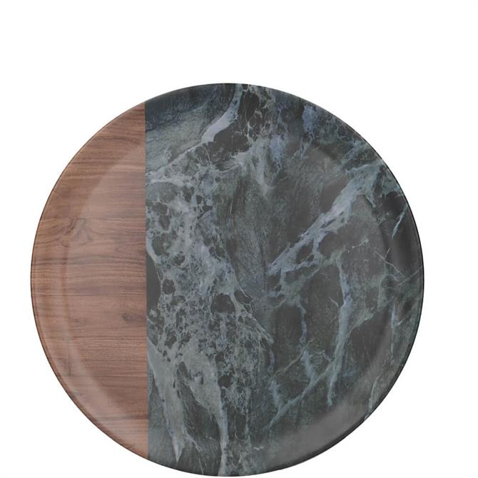 Creative Tops Green Marble Wood Mix Matte Round Tray