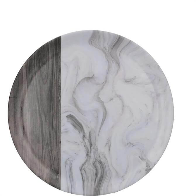 Creative Tops Grey Marble Wood Mix Matte Round Tray