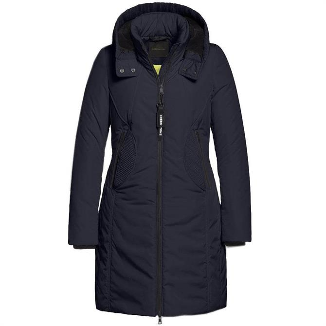 Creenstone Padded Hooded Coat with Smocking Detail
