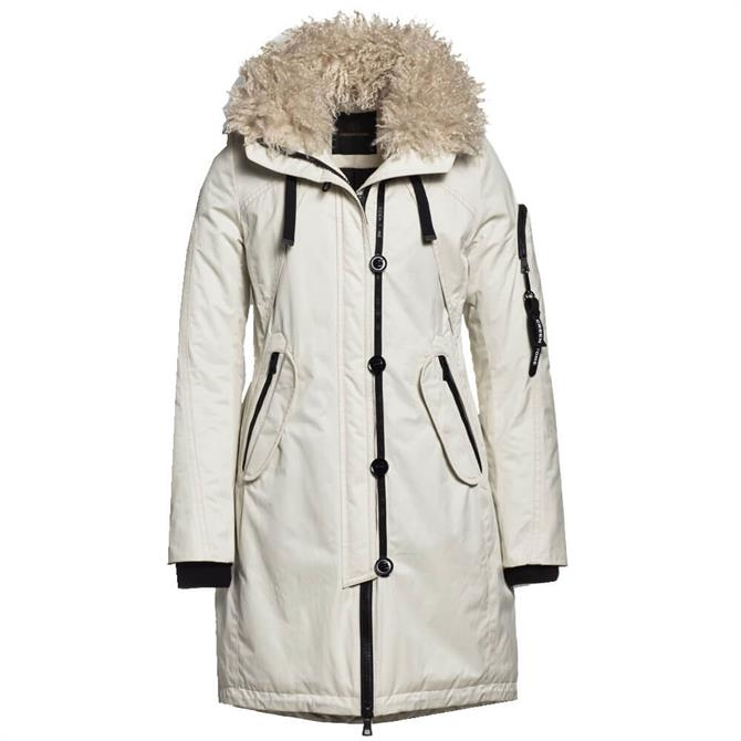 Creenstone Parka with Detachable Shearling Collar