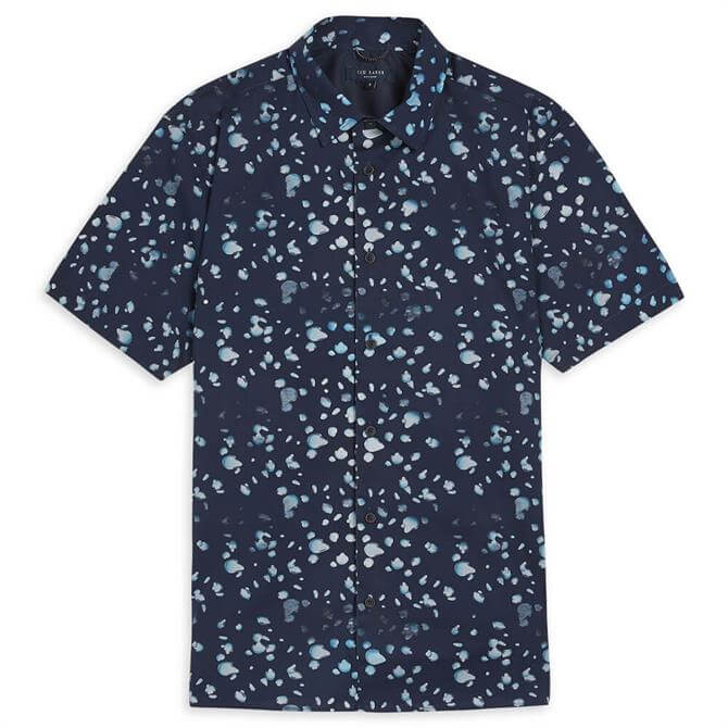 Ted Baker Thouhts Raindrop Print Shirt