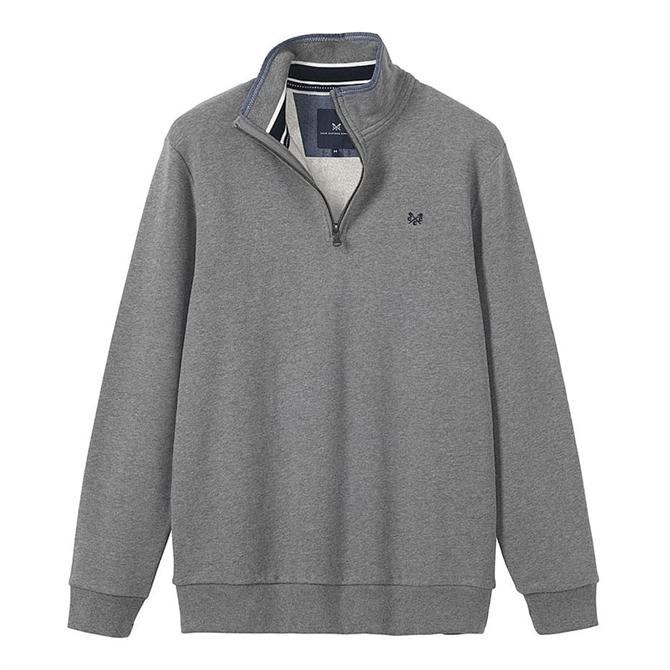 Crew Clothing Classic Half Zip Sweatshirt - Grey Marle
