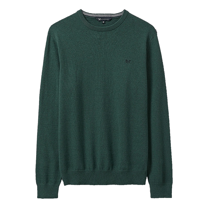 Crew Clothing Foxley Crew Neck Jumper - Ivy Green