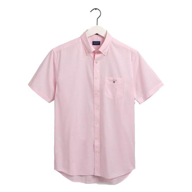 GANT Regular Fit Short Sleeve Broadcloth Shirt