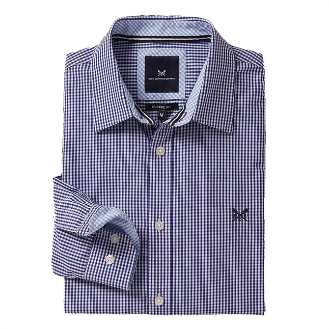 Crew Clothing Classic Fit Micro Gingham Shirt
