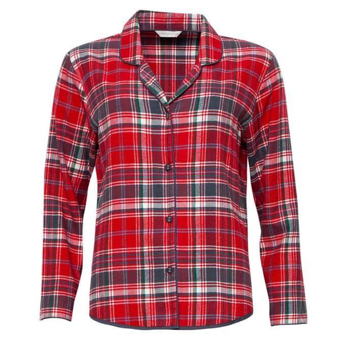 Cyberjammies Belle Woven Checked Pyjama Top