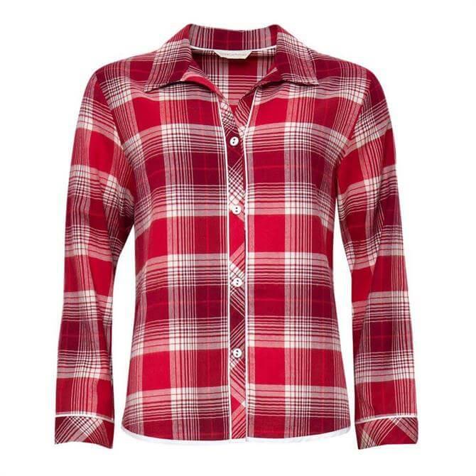 Cyberjammies Megan Brushed Check Pyjama Top