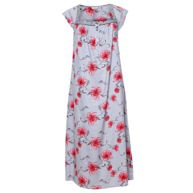 Cyberjammies Nancy Woven Floral Print Long Nightdress